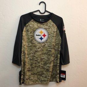 size 40 4f870 9f171 Nike Steelers Camo DRI-FIT L NWT